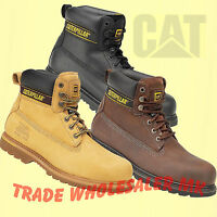 """Mens Caterpillar Holton Steel Toe Cap Safety Boots CAT 6"""" Work Boots Size 6-13"""
