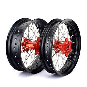 17'' mozzi arancioni ruote cerchi per KTM SX XC SXF EXC SXS 125 250 300 400 450