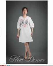 DRESS EMBROIDERED (WHITE)