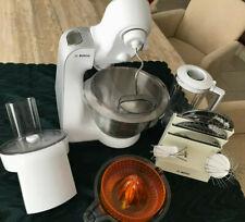 Bosch Küchenmaschine MUM 5 MUM54251 weiss silbern mit viel Zubehör