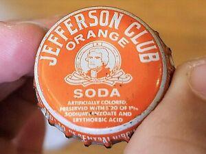 Bottle Cap:  JEFFERSON CLUB ORANGE SODA Vintage Pop Top Collectibles