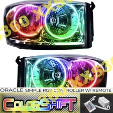 ORACLE Halo Chrome HEADLIGHTS for Dodge Ram 07-08 LED COLORSHIFT Simple RGB