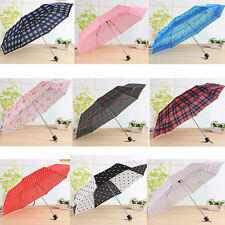 Women Men Umbrellas Compact three Folding High Quality Cheap Rain Travele