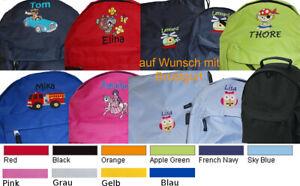 Rucksack Kindergarten Kinderrucksack mit Brustgurt und Namen bestickt NEU