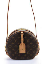 Louis Vuitton 2019 Monogram Boite Chapeau Souple MM Shoulder Handbag Brown Beige