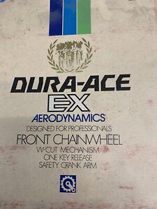Vintage Shimano Dura Ace EX Crankset 170 52/42 with bottom bracket