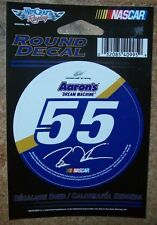 """BRIAN VICKERS #55 AARON'S 2014 WINCRAFT 3"""" ROUND DECAL STICKER"""