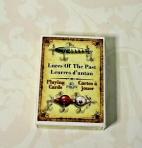 Lures Of The Past High Quality Playing Cards Rivers Edge Antique Fishing