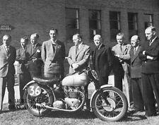 Triumph 500 GP & Triumph Meriden executives 1949 - photo photograph