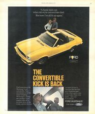 """(RST17) POSTER/ADVERT 13X11"""" FORD MUSTANG II CONVERTIBLE"""