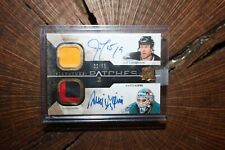 2010 - 11 UPPER DECK THE CUP JOE THORNTON ANTTI NIEMI SIGNATURE PATCHES CARD