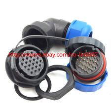 SD28 24pin Waterproof Connector, IP67 Electronic Bulkhead Connector Plug Socket