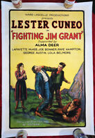 Fighting Jim Grant 1923 US Original professionally Linenbacked One Sheet