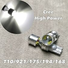 T10 T15 921 6000K xenon white CREE XBD LED reverse back up light For Nissan