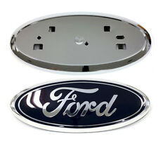 2011-2014 Ford Edge Front Grille Blue Emblem & Chrome Grill Holder Mount OEM NEW