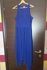 abito lungo blu donna