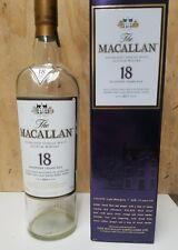 Macallan 18yr empty glass 750ml bottle with giftbox