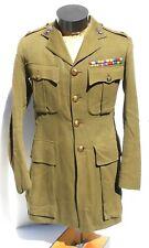 Orig Named Canadian Artillery Majors Ww2 Wool Tunic Dated June 1939 W/Ribbon Bar