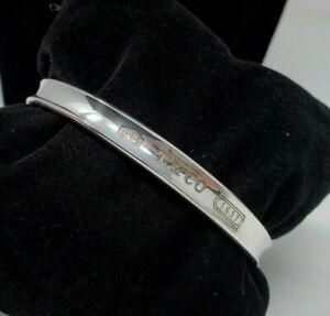 Vintage Tiffany & Co 925 Sterling Silver 1837 Bangle Bracelet- 1997