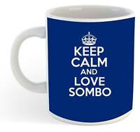 Keep Calm And Love Sombo  Mug - Blue