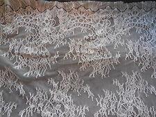 LUCE d'Avorio morbido tessuto floreale in pizzo da sposa abito da sposa fai da te larghezza 160cm. per0.5 M