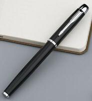 Perfect Parker IM Series Bright Black Silver Clip 0.5mm Fine Nib Rollerball Pen