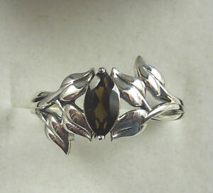 0.50 ct  Marquise Shaped Natural Quartz Sterling Silver Ring US (7) AU (O)