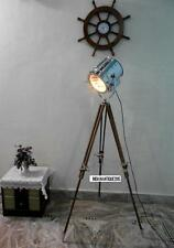 Nautical Spotlight Floor Lamp Theater Search Light & brown Tripod