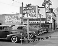 Historical Photo of Ervin Used Car Lot in Hollywood California 1942 8x10