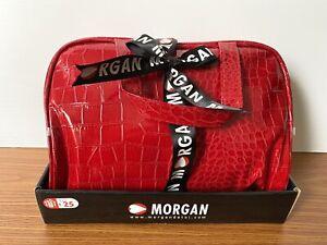 MORGAN DE TOI Faux Croc Skin Wash / Make Up Bag. Red. BNWT!