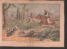 Fox hunting Fuchsjagd Chasse au renard INDE INDIA ILLUSTRATION 1936