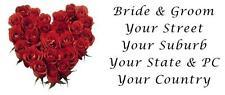 48 LARGE PERSONALISED WEDDING INVITATION RETURN ADDRESS LABEL STICKERS RED ROSES