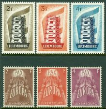 EDW1949SELL : LUXEMBOURG 1956-57 The 2 Key Europa sets. Very Fine, Mint NH.