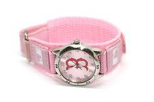 Womens Boston Red Sox Silver Pink Stainless Steel Hook & Loop Baseball Watch