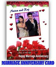 PERSONALIZED MARRIAGE ANNIVERSARY Picture Photo GREETING CARD Gift MA3