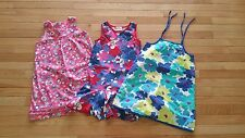 Hanna Andersson Lot of 3 Girls Size 120 6X-7 Spring Summer Dresses Sundress