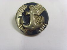 antique navy sailor anchor picture metal large unusual button 28.5 mm 48035