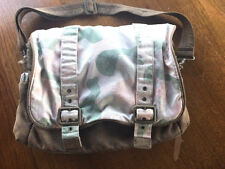 Babies R Us Pink & Green Camoflauge Baby Diaper Bag - Messenger Style