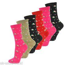 Flower design 12 pairs ladies thermal socks