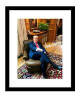Donald Trump 8x10 Signed photo sitting Winston Churchill chair president america