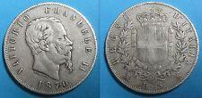ITALIE - 5 LIRE 1870 M BN - VITTORIO EMANUELE II - Argent