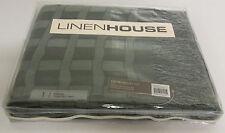 LINEN HOUSE - OSCAR charcoal grey THROW RUG 130 x 170cm - RRP $99.95 SALE