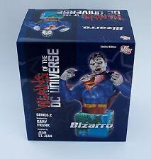 "Villains of the DC Universe Series 2 Bizarro 6"" Bust Statue #621/1500 NIB Sealed"