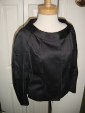 6267 Cotton Satin Jacket Sz 10 Structured Opera Top NEW