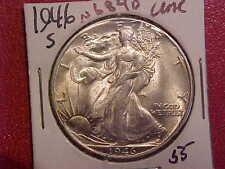 1946 S LIBERTY WALKING HALF DOLLAR - UNC - SEE PICS! - (N6840)