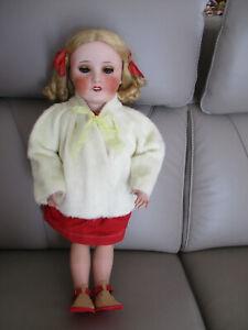 Veste ancienne jaune pour bébé  grande poupée 65 cm  environ Jumeau SFBJ DENAMUR