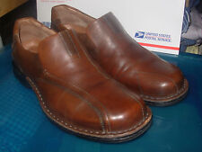 Men's US-13 CLARK's LEATHER Brown Dress Casual SlipOn DRESS SHOES LOAFERS OXFORD