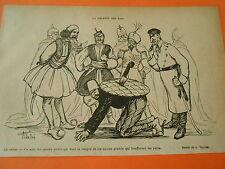 La Galette des Rois Le Turc les quatre petits vont couper Humour Print 1913