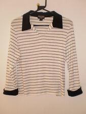 Ralph Lauren Polo Jeans Black White Striped Sweater Jumper Tunic Top size L