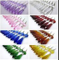 10 PCS Lot Glass Crystals Chandelier Lamp Part Prisms Hanging Drop Pendants 3''